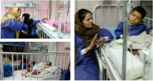گزارش قصه خوانی در بیمارستان شهید مطهری