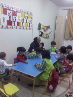 گزارش قصه خوانی در مدرسه نابینایان نرجس