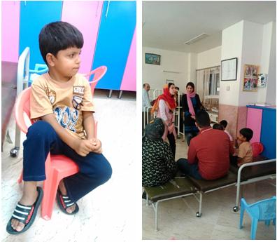 گزارش قصه خوانی در بیمارستان کودکان شهید مدرس