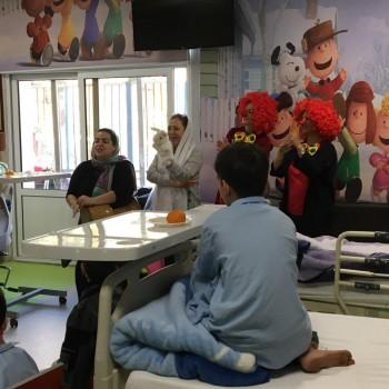 قصه خوانی در بیمارستان قلب شهید رجایی آذر 97