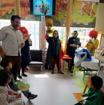 جشن روز کودک در بیمارستان قلب شهید رجایی