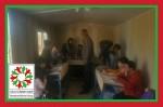 مدرسه موقت برای روستای حسن سلیمان
